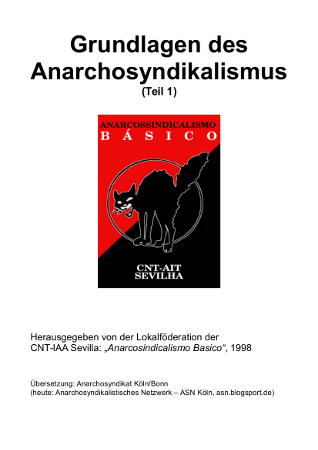 CNT-IAA Sevilla: Grundlagen des Anarchosyndikalismus