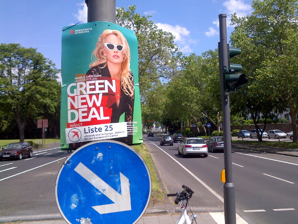 Green New Deal - Plakat zur EU-Wahl 2019